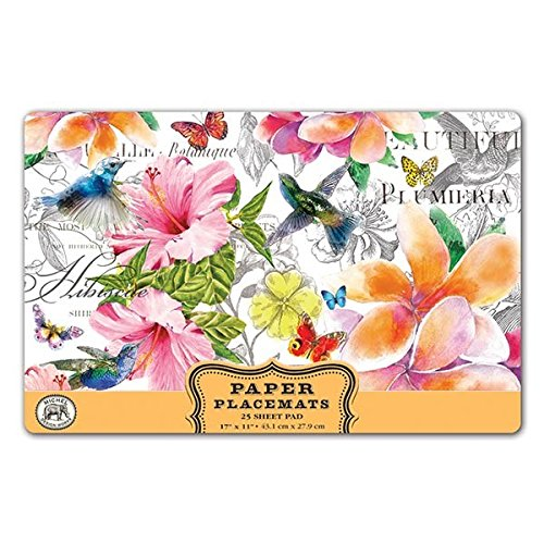 Michel Design Works 25 Count Paper Placemats, Paradise by Michel Design Works