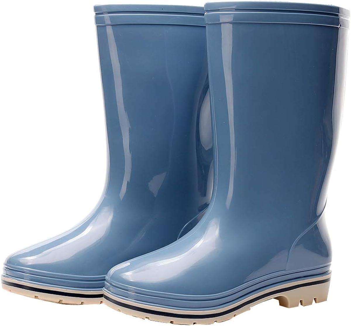 Womens Rain and Garden Boot Wellies Half Calf Rubber Waterproof for Garden Women rain footwear