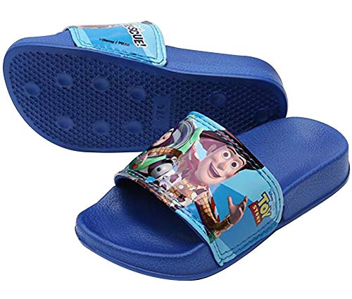 Joah Store Toy Story Boys Slippers Blue Light Weight Slide Sandals (Parallel Import/Generic Product) (7 M US Toddler, Toy (Best Generic Toddlers Toys)