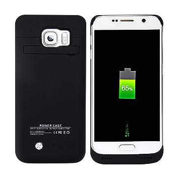 BasicStock Funda Batería Samsung Galaxy S6, 4800mAh Batería Externa Recargable Ultra Delgada Protector Portátil Carga Caso de Prueba de Choque para ...
