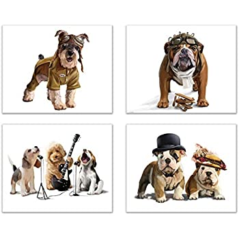 English Picture Print Pet Pug Dog Puppy Dogs Puppies Poster Vintage Art