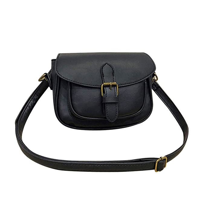 faf20d69d86b Amazon.com: 【MOHOLL】 Women Crossbody Satchel Bag Small Saddle ...