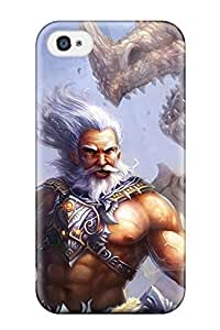 Durable Protector Case Cover With Visited By The Gods Hot Design For Iphone 4/4s by lolosakes