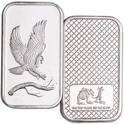1 oz. Silver Bald Eagle Bar - Coins Eagle Bald