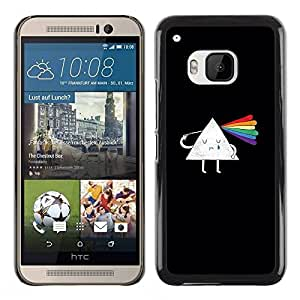 Paccase / SLIM PC / Aliminium Casa Carcasa Funda Case Cover para - Prism Scattered Light Rainbow Clever Cartoon - HTC One M9