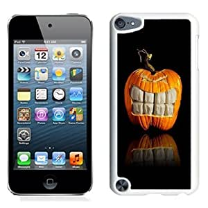 NEW Unique Custom Designed iPod Touch 5 Phone Case With Pumpkin Big Grin Halloween_White Phone Case