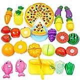 Corte Juguete, Finer Shop 24Pcs Fruta Plástico Vehículo Temprano Desarrollo Educación Bebé Niños Comida Cocina