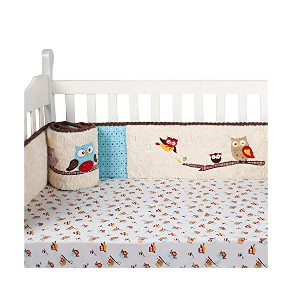 Laugh Giggle & Smile Spotty Owls 4 Piece Bumper Pad Set