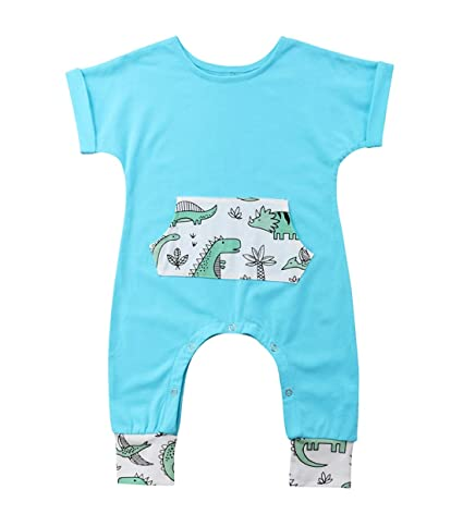 128bf30660d Toddler Baby Animal Rompers Jumpsuit Girl Boy Summer Short Sleeve Clothes  Outfits(70(0-6M)