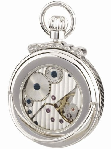 Charles-Hubert, Paris 3873-W Classic Collection Polished Finish Open Face Mechanical Pocket Watch by Charles-Hubert, Paris