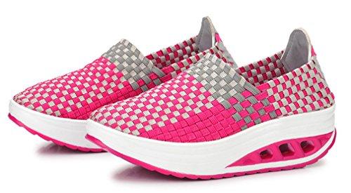 Des Newzcers Plate Femmes D'été Chaussures Forme forme De D'armure Physique Rose D'espadrille Respirantes q4CvxnqA