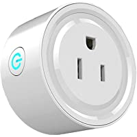 Wi-Fi Smart Plug, Enchufe Inteligente WiFi Mini Outlets Smart Socket Compatible con Amazon Alexa Control por Voz, Google…
