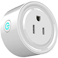 Wi-Fi Smart Plug, Enchufe Inteligente WiFi Mini Outlets Smart Socket Compatible con Amazon Alexa Control por Voz, Google Home y IFTTT,smart plug para Controle Sus Dispositivos eléctricos Desde Cualquier Lugar (1 Unidad)