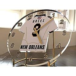 FanPlastic Drew Brees 9 MVP New Orleans Saints Desktop Clock - National Football League Legends Edition !!