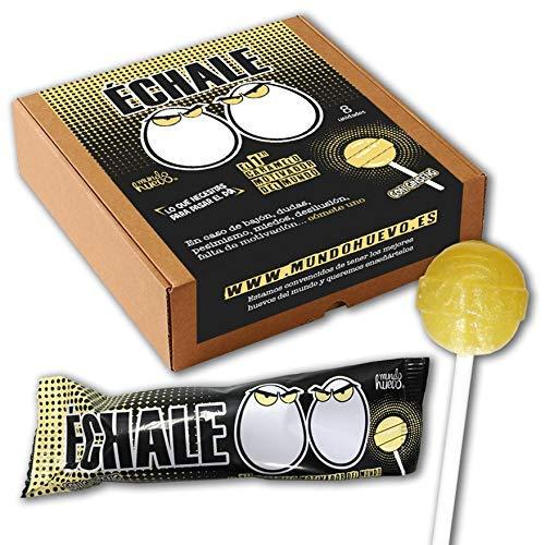 Caramelo con palo motivador. Échale huevos. Caja de 8 unidades ...