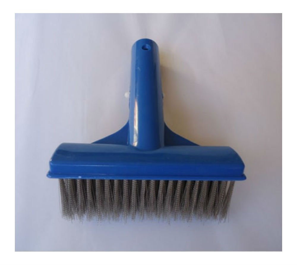 5'' Algae Brush W/ Stainless Steel Bristle for Swimming Pool Spa and Fountain