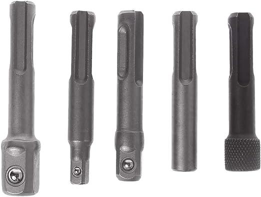 "1//4/"" 3//8/"" 1//2/"" Impact Drill Chuck Socket Screwdriver Adaptor Converter SDS Plus"