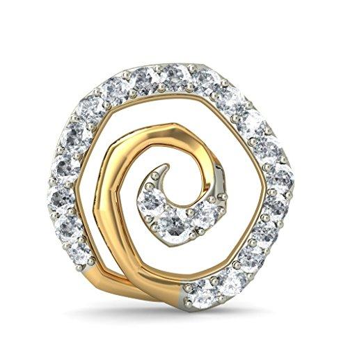 Or jaune 18K 0,42CT TW White-diamond (IJ | SI) Boucles d'oreille à tige