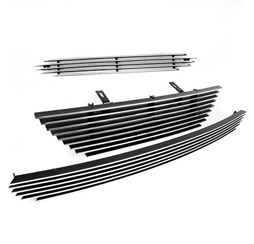 ZMAUTOPARTS Ford Mustang V6 Front Hood Scoop+Upper+Bumper Billet Grille Grill (Upper Billet Grille Hood Scoop)