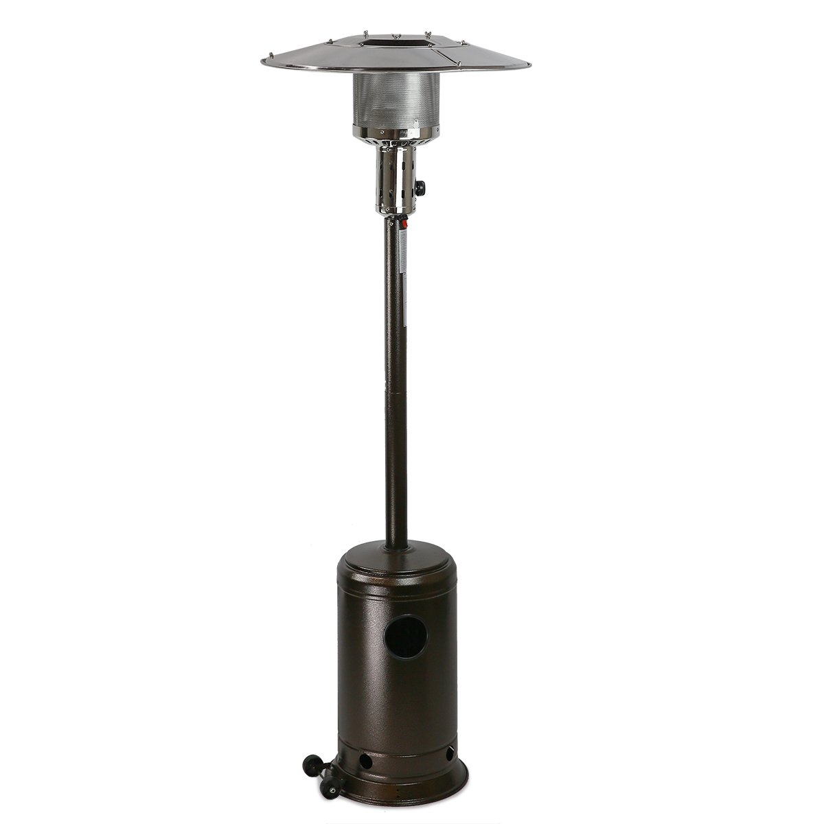 XtremepowerUS 48,000 BTU Premium Floor Standing Propane Outdoor Patio Heater  (Mocha) - Best Outdoor Heat Lamps For Patio Amazon.com