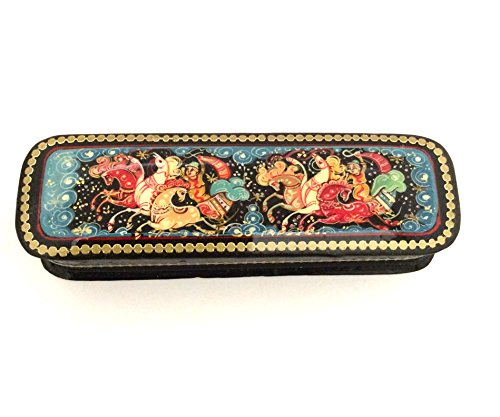 - Russian lacquer box Palekh Hand painted