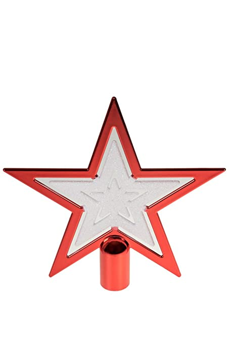Red & White Star Christmas Tree Topper by Clever Creations | Festive  Christmas Decor | Sparkling - Amazon.com: Red & White Star Christmas Tree Topper By Clever