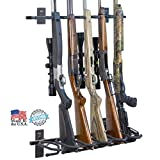 Search : Hold Up Displays - Gun Rack and Rifle Storage Holds 6 Winchester Remington Ruger Firearms and More - Heavy Duty Steel - Made in USA