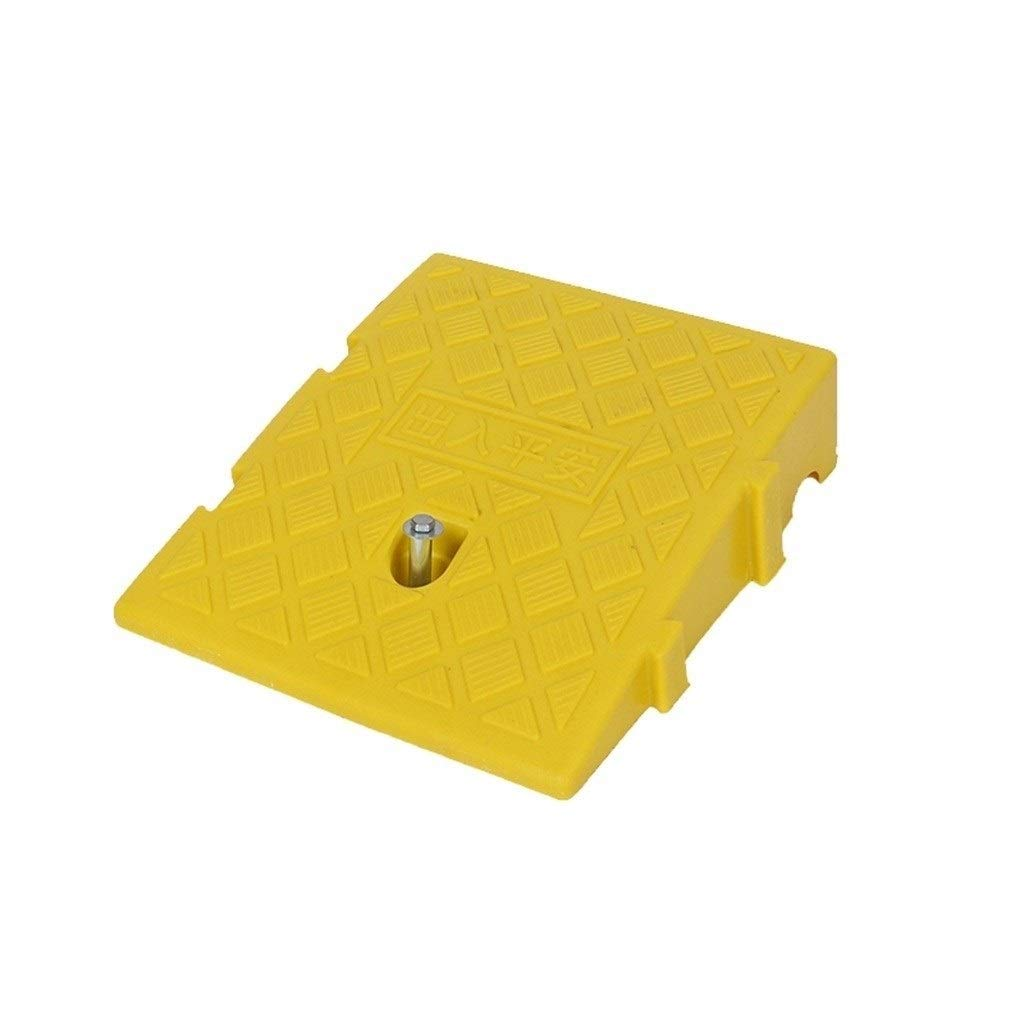 11 way bike CSQ Ramps 7CM/11CM Uphill Pad, Light Plastic Triangle Pad Car Accessories Slope Pad Hotel Club Entrance Threshold Ramps Yellow/Black Kerb Ramps (Color : Yellow, Size : 24.72711CM)