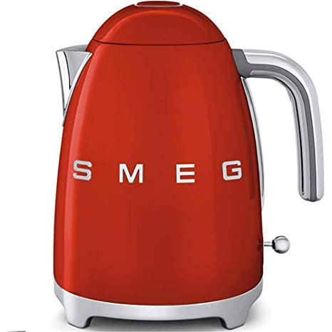 Smeg Hervidor KLF03RDEU, 2400 W, 1.7 litros, Acero Inoxidable, Rojo