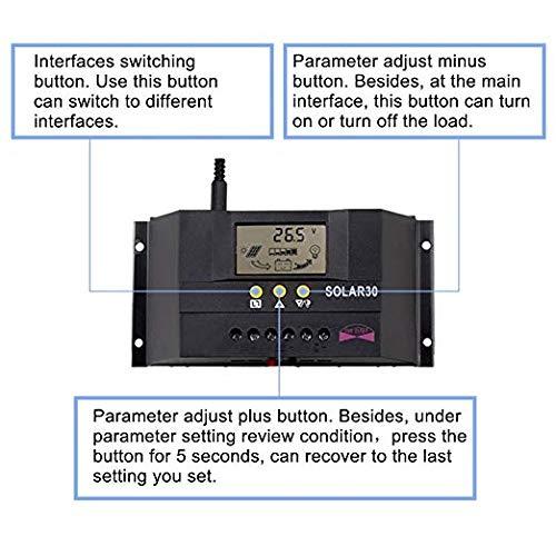 Sun YOBA 30A 12V 24V Solar Panel Battery Charge Controller Intelligent Regulator by Sun YOBA (Image #3)