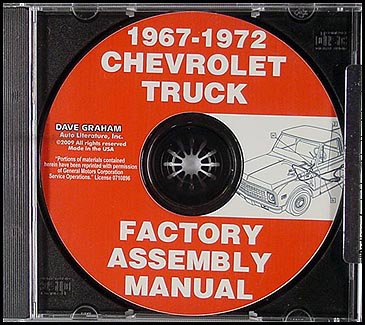 1972 Chevrolet K20 Pickup - CD-ROM 1967-1972 Chevy GMC Pickup Truck Assembly Manual Chevrolet