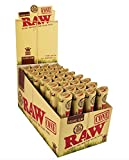 vape cone - 192 Raw ORGANIC Cones Pre-Rolled Rolling Papers (Full Case), Raw ORGANIC Natural Unrefined Cones Rolling Paper 1.25 Size, 32 Packs of 6 Cones + Beamer Smoke Limited Edition Sticker