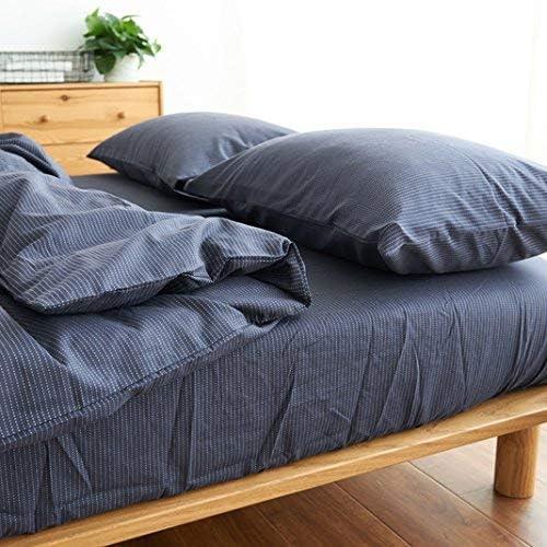 寝具布団カバー シンプルな純綿キルト綿フランネルシングルベッドダブルベッド綿の寝具セット4 超ソフト低刺激性 (色 : 青, サイズ : 1.8m (6 Feet) Bed) 青 1.8m (6 Feet) Bed