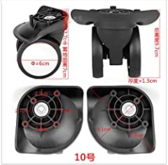 Packing list :A pair(1pcs left and 1pcs right) wheel as first photo and come with Screw Material of Item: Plastic (PVC+PP) Size of item :As photo show Product features: wear resistant ,Suitable for the use of ordinary luggage box ,And need yo...