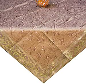 Ikras Lux. Twinkle Font Table Cloth - 110 x 110 cm - Copper