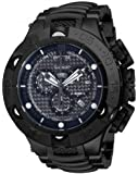 Invicta Men's Jason Taylor Quartz Watch with Black Dial Chronograph Display and Black Stainless Steel Bracelet 14311