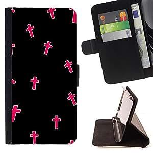 Super Marley Shop - Funda de piel cubierta de la carpeta Foilo con cierre magnšŠtico FOR Samsung Galaxy S4 IV I9500 i9508 i959- OMG God Cross Jesus Space