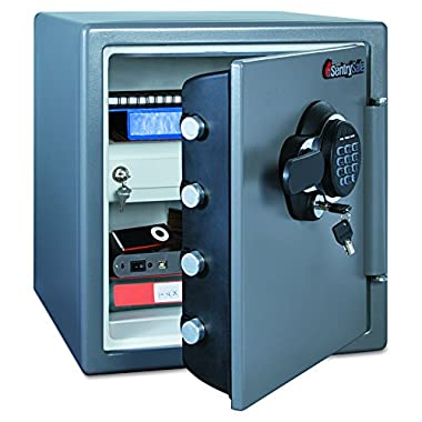 SentrySafe SFW123GDC 1.23 Cubic Feet Extra Large Digital Electronic Fire-Safe, Gun Metal Grey