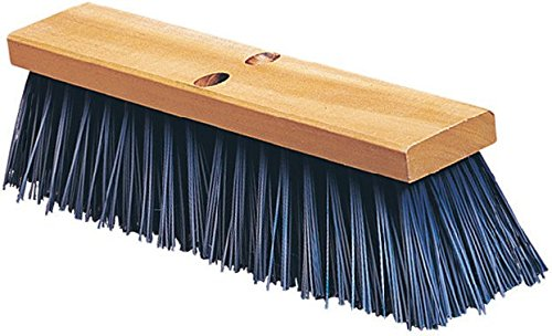 Carlisle 3611401814 Flo-Pac Floor Sweep, Hardwood Block, 4-1/2''-Long Blue Polypropylene Bristles, 18'' Length (Case of 6) by Carlisle