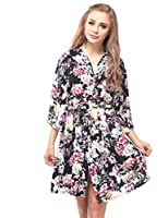Skyfitting Women's Kimono Robe, Cotton Bridesmaid Robes, Short