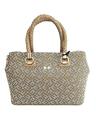 BORSA LIU JO MEDIUM 2 ZIP SATCHEL MANHATTAN PRINTED A18081 E0017 ARENARIA