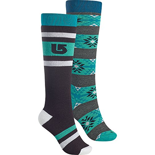 Burton Women's Weekend Socks (2 Pack), True Black, Small/Medium
