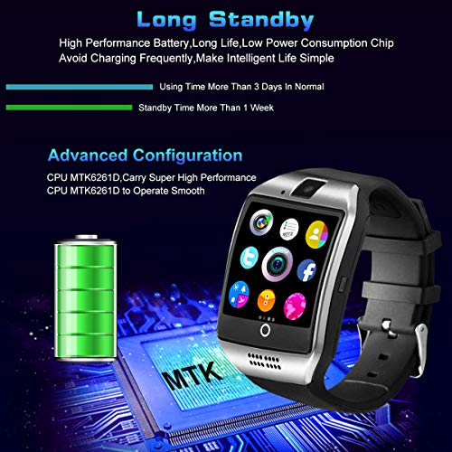 Smartwatch con Whatsapp,Bluetooth Smart Watch Pantalla táctil,Reloj Inteligente Hombre,Reloj Smartwatch, Impermeable Smartwatches Compatible Android ...