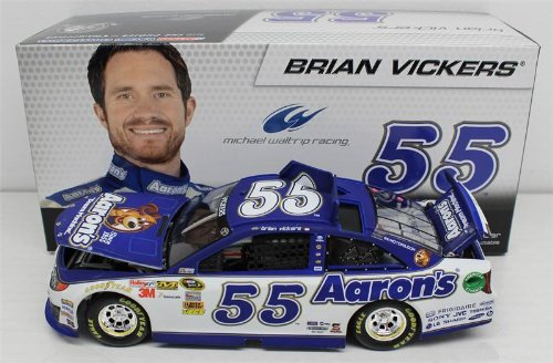 Brian Vickers #55 Aaron's 2013 Toyota Camry NASCAR Diecast Car, 1:24 Scale HOTO