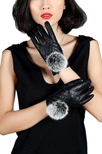 目立つ叱る傷つけるtextingするyacun女性暖かいスマートタッチスクリーン手袋puの冬