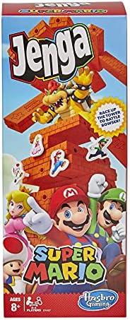 Jenga Super Mario - Jogo de Empilhar Blocos, para Crianças Acima de 8 Anos - E9487 - Hasbro - Exclusivo Amazon