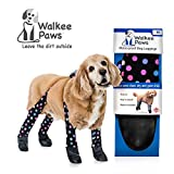 Walkee Paws Waterproof Dog Leggings - Keep Your Dog's' Clean & Dry Without The Hassle of Boots - Confetti Color (Medium)