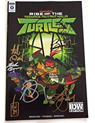 NYCC 2018 Convention Exclusive RISE OF TEENAGE MUTANT NINJA TURTLES # 0 SIGNED by Andy Suriano, Ant Ward, Omar Miller, Josh Brener, Brandon Mychal Smith, Kat Graham, Rob Paulsen and Maurice LaMarche
