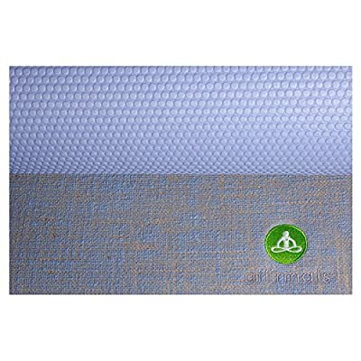 Affirmats Best Premium Designer Non Slip Non Toxic Phthalate Free Extra Long Yoga Mat for Hot Yoga, Pilates, Bikram Yoga
