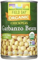Field Day Organic Garbanzo Beans, 15 oz, 12 ct